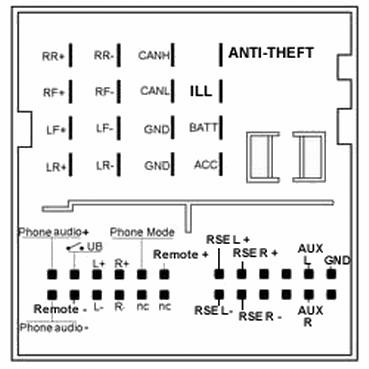 [XOTG_4463]  Ford Quadlock Car Stereo pinout diagram @ pinoutguide.com | Ford Kw2000 Wiring Diagram |  | Pinouts