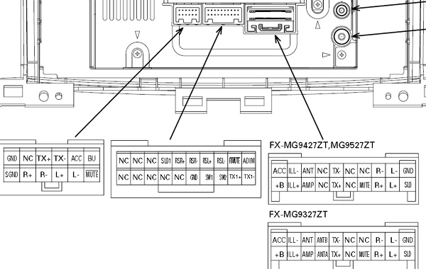 toyota land cruiser 100 20032004 head units pinout