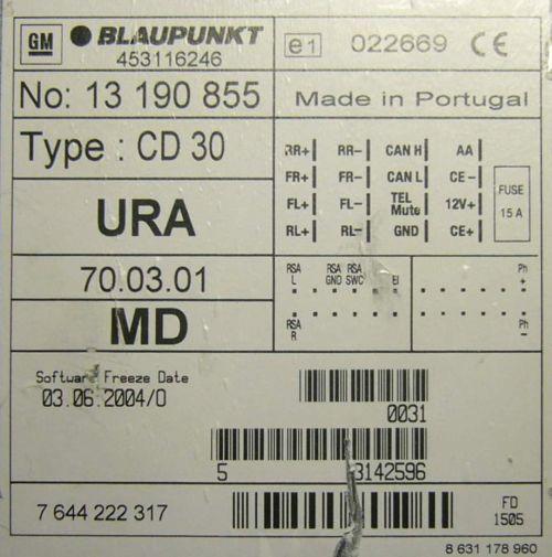 Opel Cd30 Mp3 Head Unit Pinout Diagram Pinoutguide Com