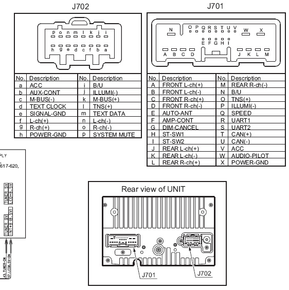 Mazda 5 2005 2010 14797327 Head Unit Pinout Diagram Pinoutguide Com
