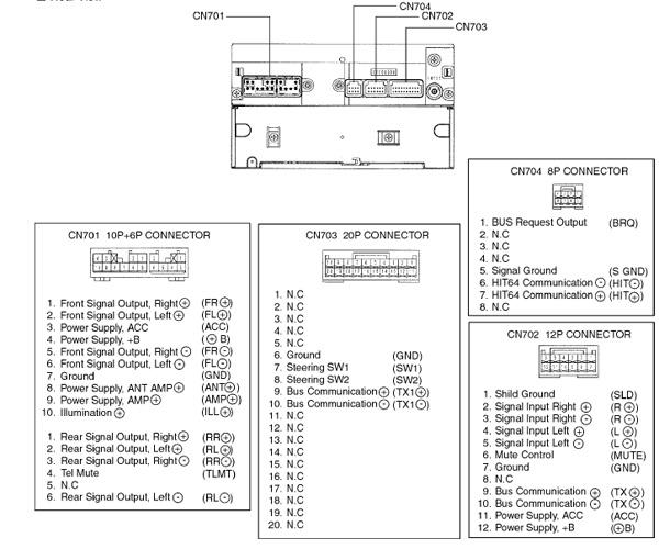 2004 lexus wiring diagram toyota corolla verso  2004 2007  w58810 head unit pinout diagram  toyota corolla verso  2004 2007  w58810