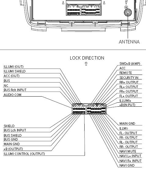 Acura MDX (2001-2004) 3TF0 BOSE Changer Pinout Diagram
