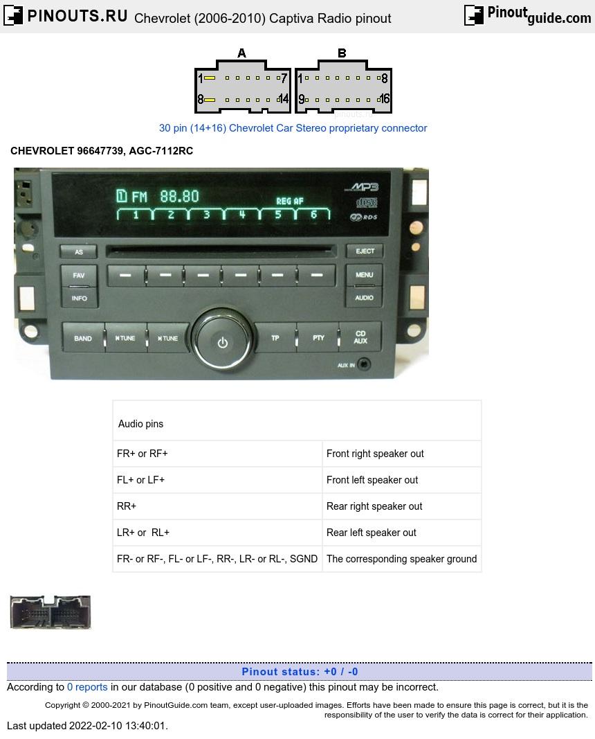 Chevrolet Captiva (2006-2010) Car Stereo pinout diagram @ pinoutguide.com [ 1196 x 860 Pixel ]