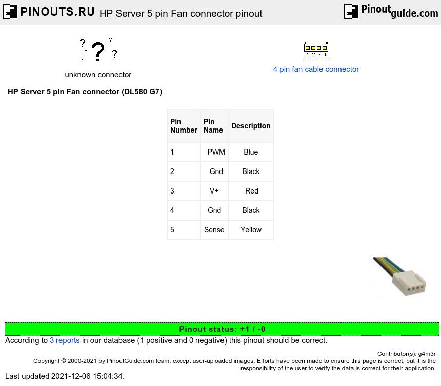 Hp Server 5 Pin Fan Connector Pinout Diagram Pinoutguide Com