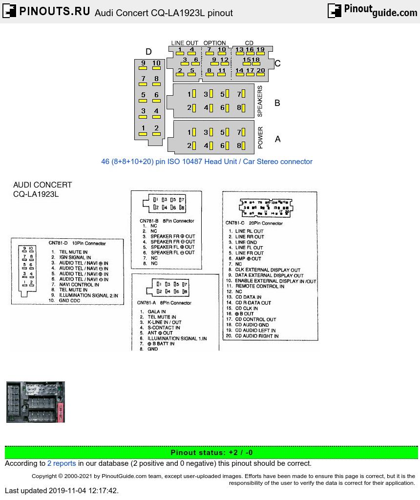 audi concert cq-la1923l diagram